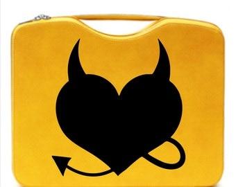 Devil Heart Decal // sticker // wall art // car graphics // room decor // emo // goth // gothic // metal // AA16