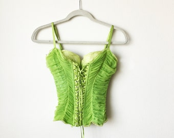 Fashion Corset, Lime Green by Nurielle Haute Couture