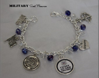 Coast Guard Grandma, Mom, I love my Coastie, Coast Guard Jewelry, Coast Guard Sister