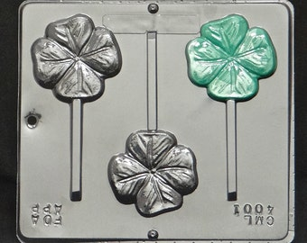 Four Leaf Clover Lollipop Chocolate Candy Mold St. Patrick's Day  4001
