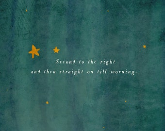 Second Star to the Right // Directions to Neverland Nursery Decor