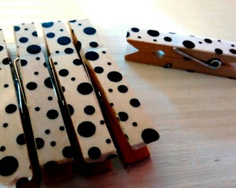 10mollette placeholder wood decorated with Washi tape