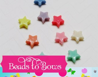 CLEARANCE QTY 50 Star Bubblegum Beads, 14mm Chunky Star Beads, Fairy Kawaii Star bead, Bubblegum Bead Star, Chunky Necklace Supply