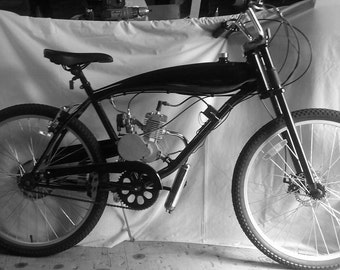 Motorized Gas Bike Frame with built in gas tank.