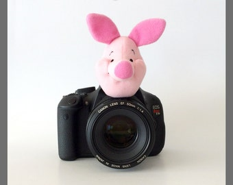 Camera Lens Buddy Accessories, Photo Props for Kids/Children Photography Gifts and Ideas, Pink Piglet, Winnie the Pooh Friends