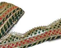Gota Patti Lace Saree Gota Patti Border Gota Patti work Trim Gota Patti Saree Lace-Width 06 cm-Price for 1 Yard-IDL196