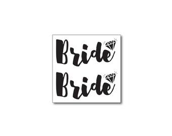 bride bachelorette party tattoos bridal tattoos spring wedding beach wedding engagement gift diamond tattoos fake tattoos black script tats