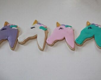 Unicorn Vanilla Sugar Cookies