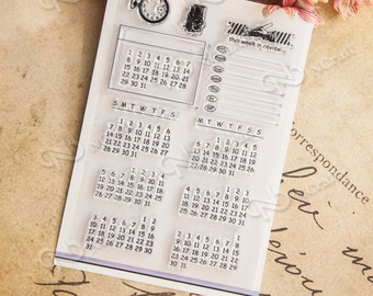 Calendar Clear Stamps Set -- 10 x 15cm stamp