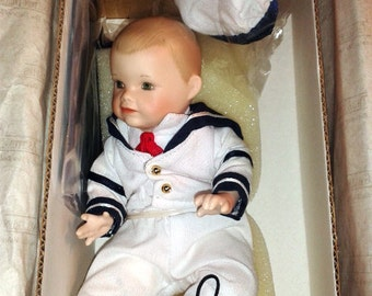 SALE Vintage Collector Ashton Drake Galleries MATTHEW Sailor Yolanda Bello Porcelain Doll Collectible Doll