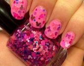 Minnie's Bows ~ 15 mL Full size bottle ~ Indie Nail Polish Glitter Lacquer