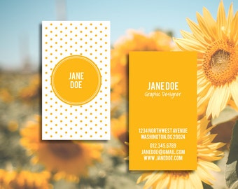 Customizable, Predesigned, Double Sided Polka Dots Business Card, Mommy Card or Calling Card