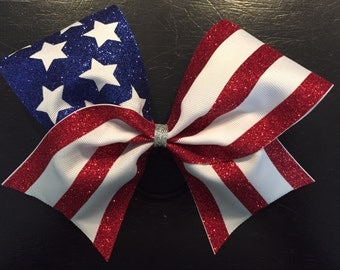 Stars and Stripes Cheer Bow