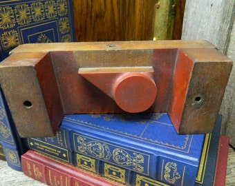 Vintage Industrial Foundry Wood Mold Shumway - Industrial