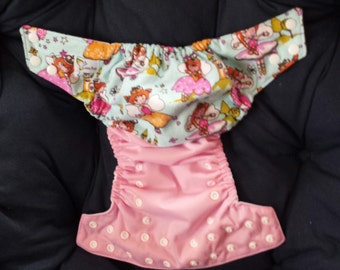 One Size Pocket Cloth Diaper - Pretty Fairies