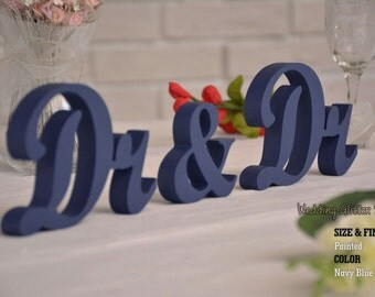 Dr & Dr,  Sweet Heart Table Sign Dr and Mrs, Freestanding Mr and Dr sign, Sweetheart table, Reception, Bridal Decoration