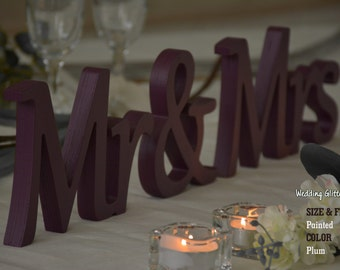 Mr & Mrs Wall Decor and Mr and Mrs Table Sign