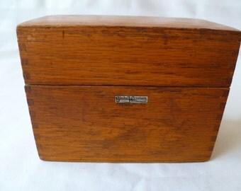 Glove Wernicke Wooden Recipe, Note Card, Jewelry Box