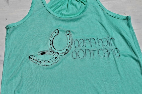 Items similar to barn hair don t care embroidered tank top