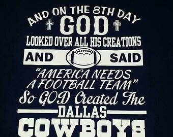 God Created Cowboys-Dallas Cowboys