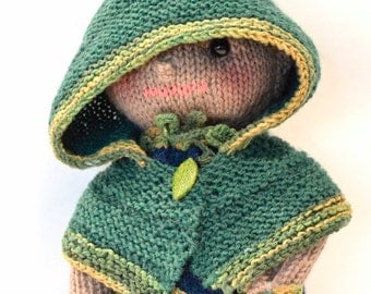 Elf, Elf doll, knitted elf doll, knitted doll, stuffed elf, handmade elf, Eclectic Wandering, knitted toy
