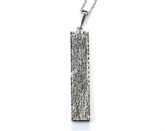 Lattice Bar Pendant and Chain Unique Fine Jewelry Vintage Style