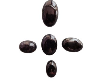 SUGILITE lot of 5 Piece, 27ct Wholesale Lot, Natural Sugilite Gemstone Cabochons AG-521