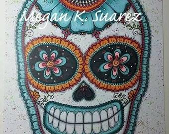 Sugar skull painting by Megan