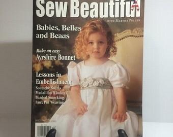 SEW BEAUTIFUL MAGAZINE, Martha Pullen magazine, embellishments patterns, beaded smocking patterns, sewing for girl,beautiful sewing projects