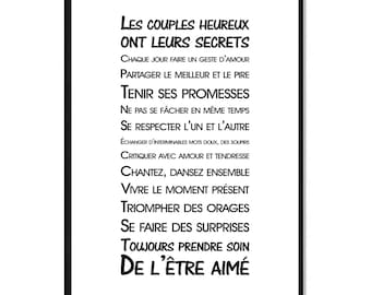 A3 - Poster - the happy couple - rule of life text - B