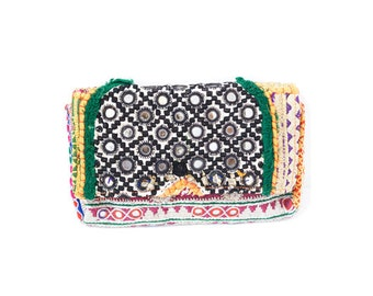 Indian mirror work clutch bag (0004) Indian mirror work Clutch bag Ethnic bag Bag Clutch  Mirror work clutch bag