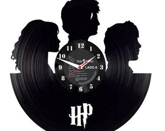 Custom Vinil Disc Clock Harry Potter