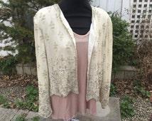 Silk Small Beaded 1960s Vintage Jacket