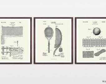 Tennis Poster - Inventions of Tennis - Tennis Racquet - Tennis Balls - Tennis Net - History of Tennis Set - Tennis Art - Tennis Decor - ATP