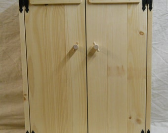 Knotty Pine Bathroom Cabinet