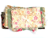 Vintage Floral Fabric, Fabric Bundle, Scrap Pack, Quilting Fabric, Craft Supplies, Sewing Gifts.