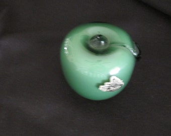 Fenton Glass Apple Paperweight