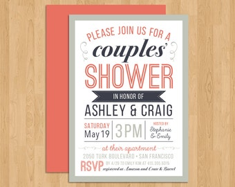 COUPLES' SHOWER - Bold & Modern All Type Invitation