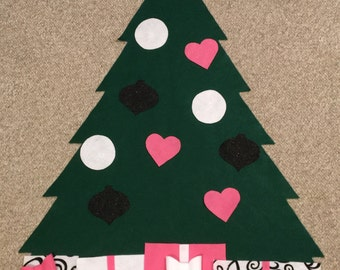 "Interactive Felt Christmas Tree - ""The Kendall"""