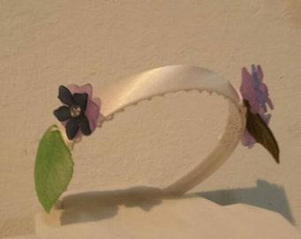 Purple Flower Girl Flower Headband
