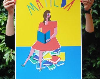 SALE (damaged) - Matilda art print - A2 420 x 594
