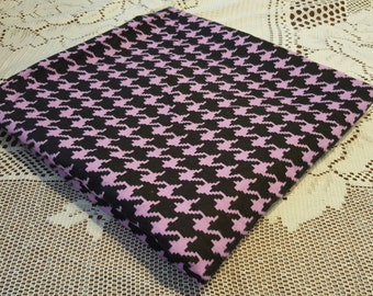Purple and Black Houndstooth Baby Blanket