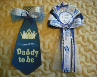 Mommy Prince corsage and Daddy To Be Tie