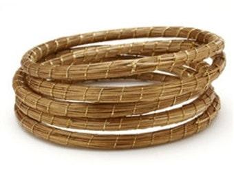 Golden Grass Bangles, Straw Bangles, Handmade Bangles, Organic Bangles