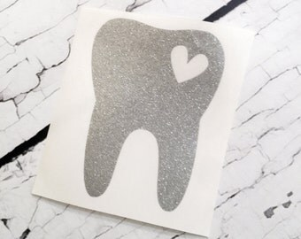 Dental Hygienist Decal, Tooth Decal, Dentist Hygienist Sticker, Monogram Decal, Car Window Decal, Vinyl Sticker, Dental Assistant