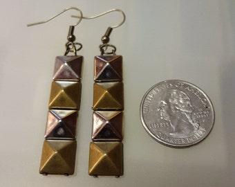 Pyramid Spike Earrings