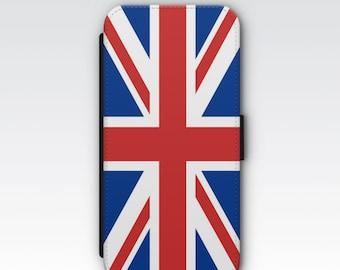 Wallet Case for iPhone 8 Plus, iPhone 8, iPhone 7 Plus, iPhone 7, iPhone 6, iPhone 6s, iPhone 5/5s - Union Jack Flag Design Wallet Case