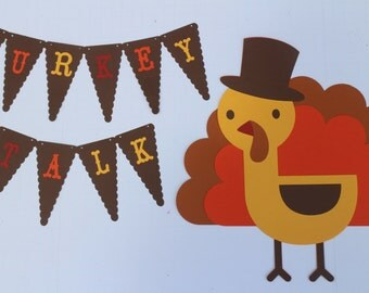Bulletin Board - Classroom - Thanksgiving - Fall - Turkey