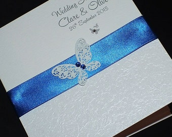 Items similar to genevieve travel themed passport and for Royal blue and coral wedding invitations