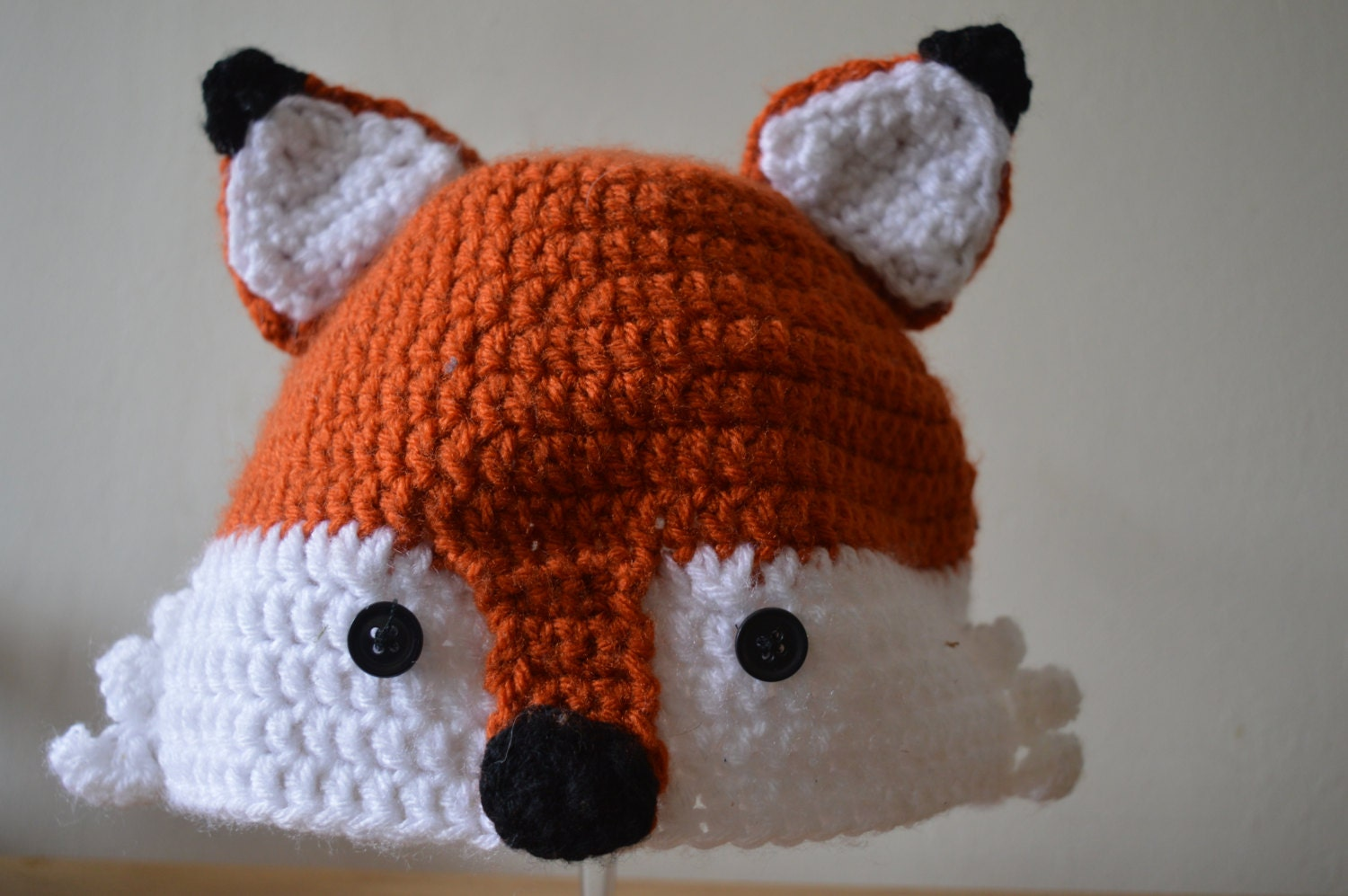 Crochet Fox Hat : Crochet Fantastic Fox Hat by HookPaperScissorz on Etsy